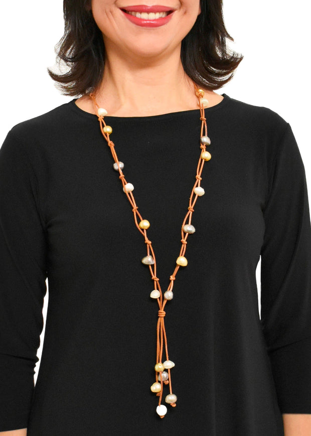 WANTED - 2 STRAND KNOTTED NECKLACE