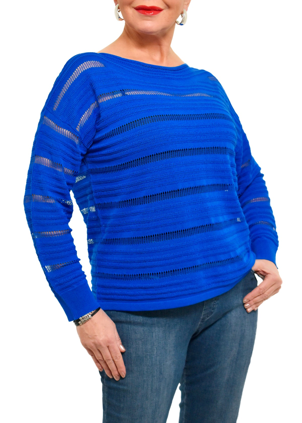 FUNNEL NECK TOP SWEATER - EILEEN FISHER