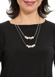 WANTED - 2 STRAND METALLIC PEARL NECKLACE
