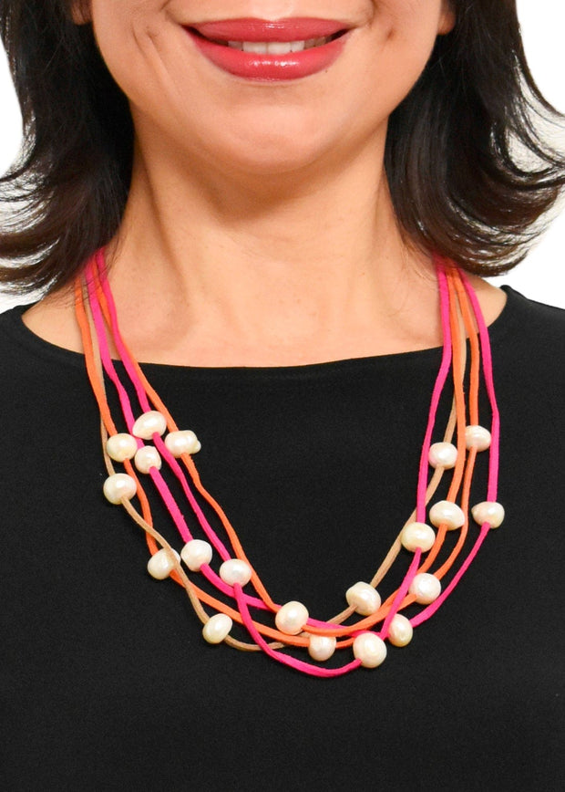 WANTED - 5 STRAND PEARL COLLAR NECKLACE