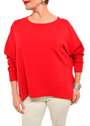 GILMOUR - BAMBOO FRENCH SWEATSHIRT RED
