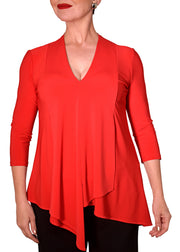 JOSEPH RIBKOFF - HILO V NECK 3/4 SLEEVE TOP
