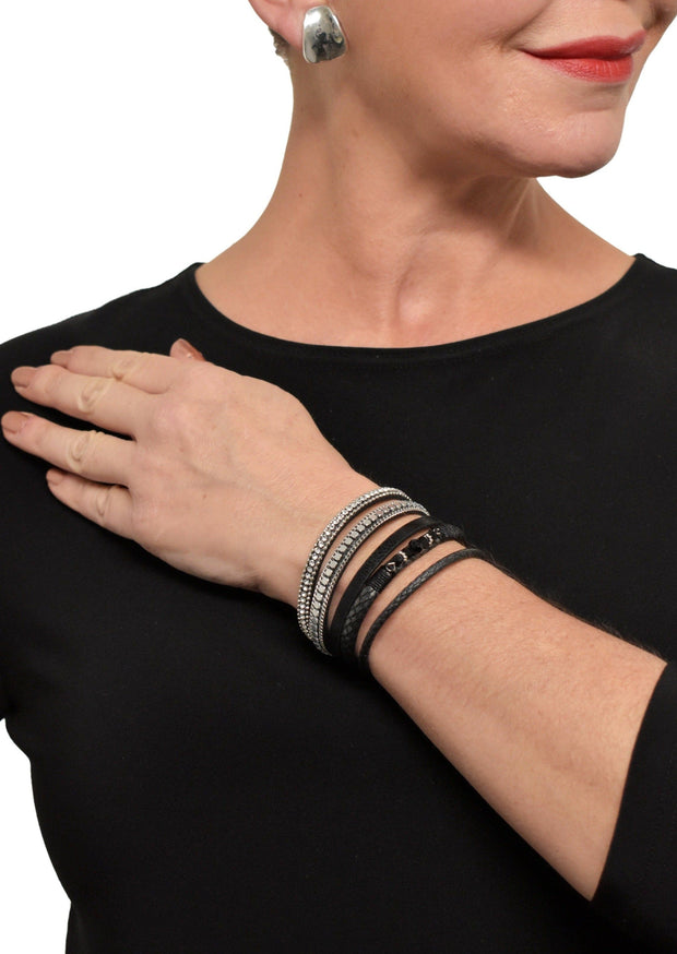 WRAP LEATHER BRACELET - BLACK