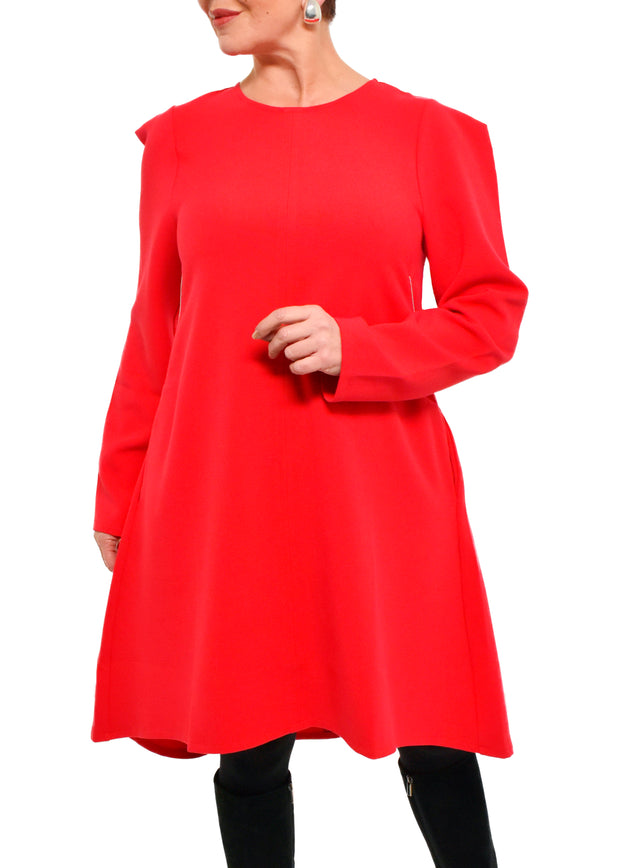 HI LO DRESS - RED