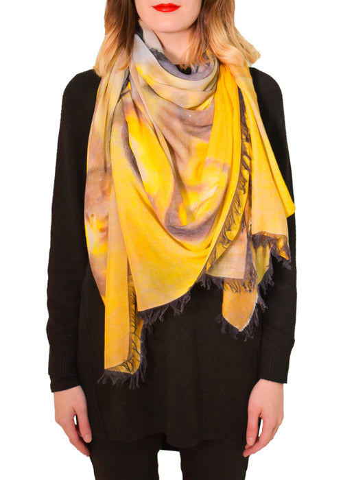 APPLES OF GOLD SILK MODAL SCARF - LOVES PURE LIGHT