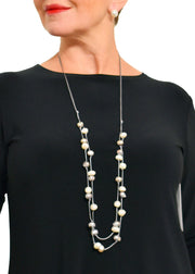 WANTED - DOUBLE STRAND SLIDING KNOT PEARL NECKLACE