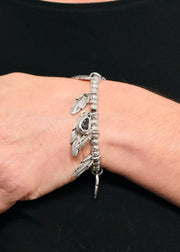 SWARVOSKI FEATHER BRACELET