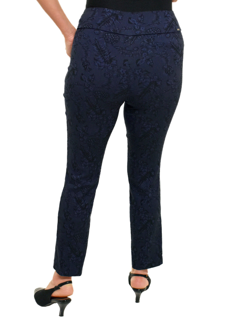 SLIM ANKLE BLUE FLORAL PANT