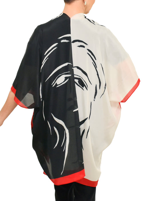 MAPLE LEAVES SILK MODAL SCARF - LOVES PURE LIGHT