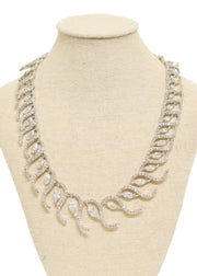 OVAL S CRYSTAL FLAT NECKLACE- 1054267