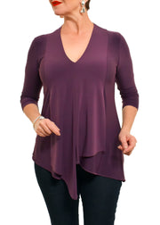 ASYMMETRICAL V NECK TOP