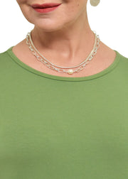 CHAIN WITH PEARL NECKLACE