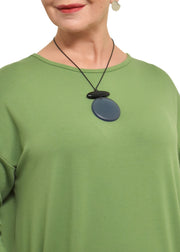 LARGE ROUND KNOT PENDANT NECKLACE