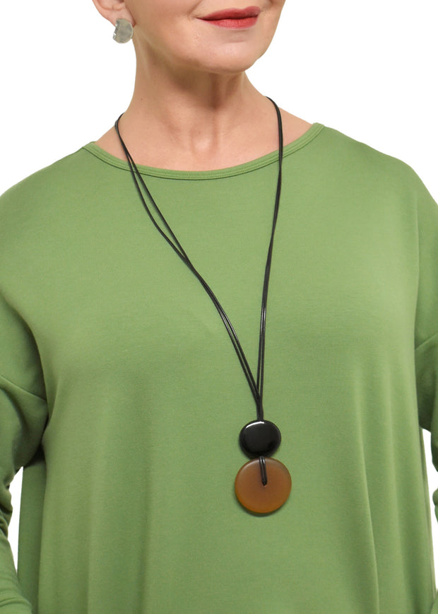 KNOTTED ROUND PENDANT NECKLACE