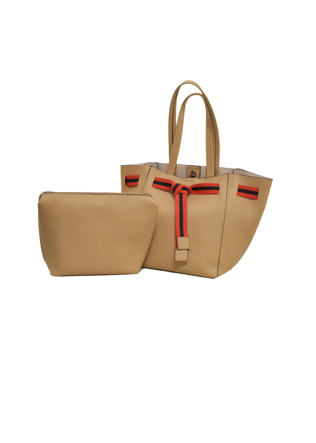 TRAPEZE BELTED TOTE BAG