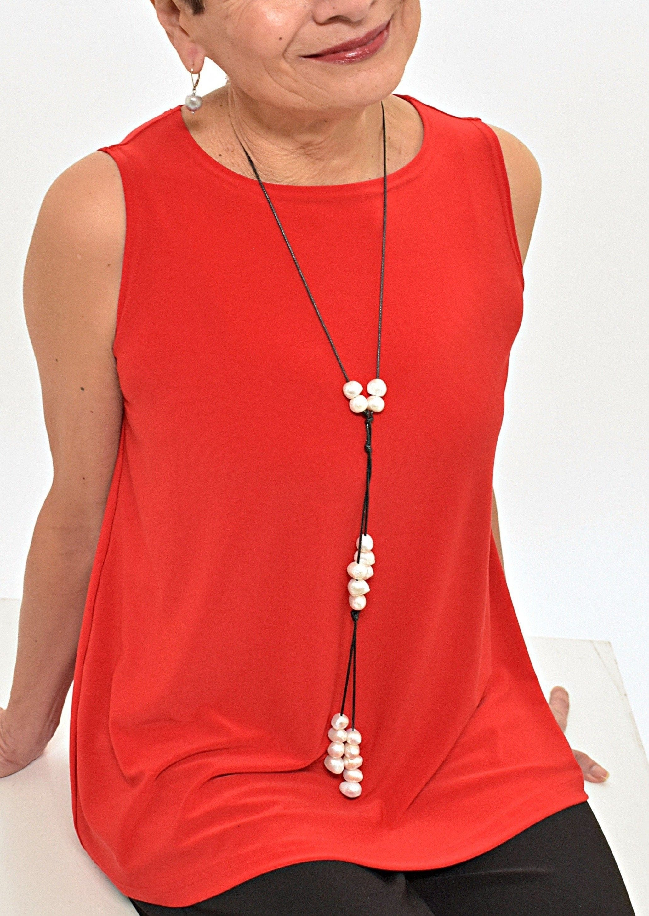 SLIDING KNOT PEARL NECKLACE - WANTED