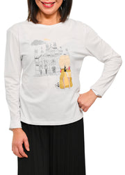 MILAN LONG SLEEVE T-SHIRT - WHITE