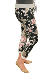 CATHERINE LILLYWHITES - BLACK FLORAL PATTERN JOGGER - 1056279