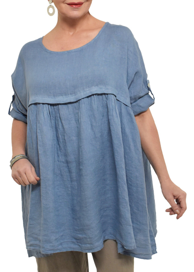BABYDOLL GATHERED SEAM TUNIC