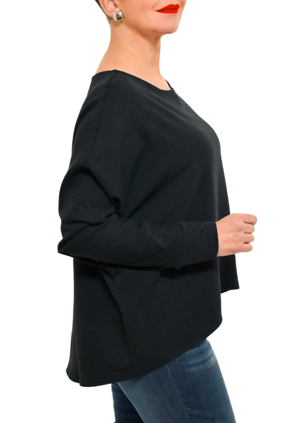 BAMBOO FRENCH SWEATSHIRT (NI) BLACK - GILMOUR