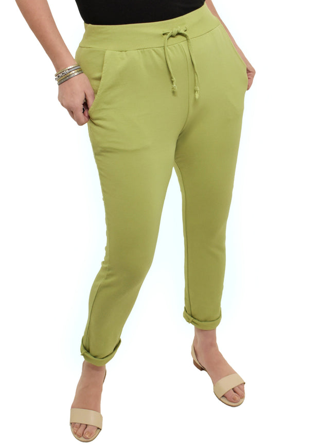 ROLLED CUFF PLUS JOGGERS - LIME GREEN