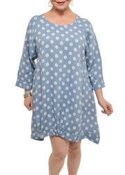 POLKA DOT LINEN DRESS