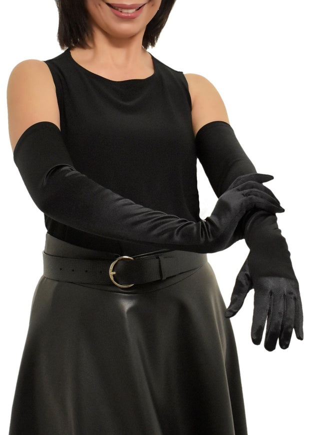 SATIN LONG STRETCH GLOVES
