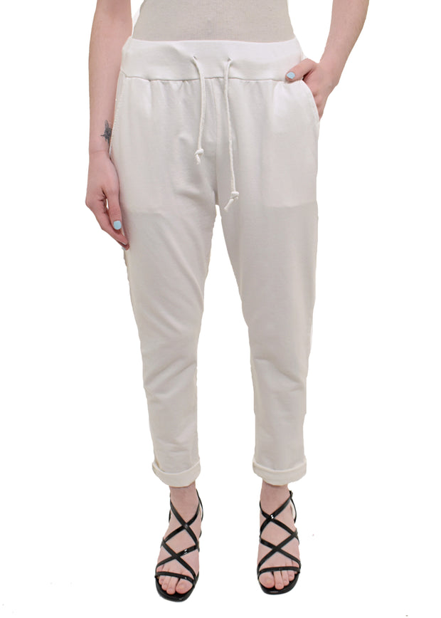 CATHERINE LILLYWHITES - ROLLED CUFF JOGGER - 1055155 - WHITE