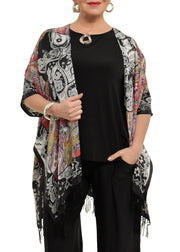 STYLE STEAL - FRAAS - SILK KIMONO - RED MULTI