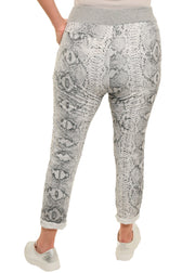 CATHERINE LILLYWHITE'S - GREY SNAKE PATTERN JOGGER - 1056388 - ITO8931SGY