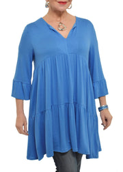 SHANNON PASSERO - GATHERED TIERED V NECK TUNIC