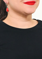 HIGH BACK V-NECK TOP - EILEEN FISHER