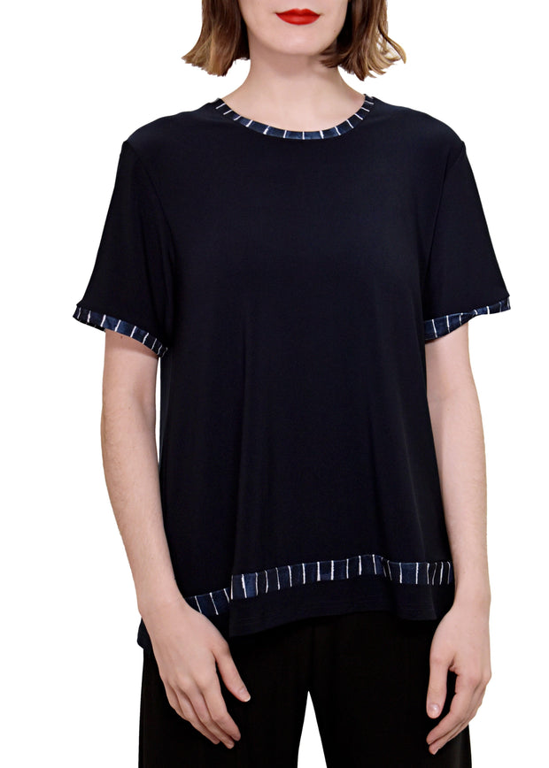 OUTLINE BOXY TOP - NAVY