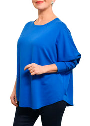 BAMBOO FRENCH BOXY TOP - ROYAL