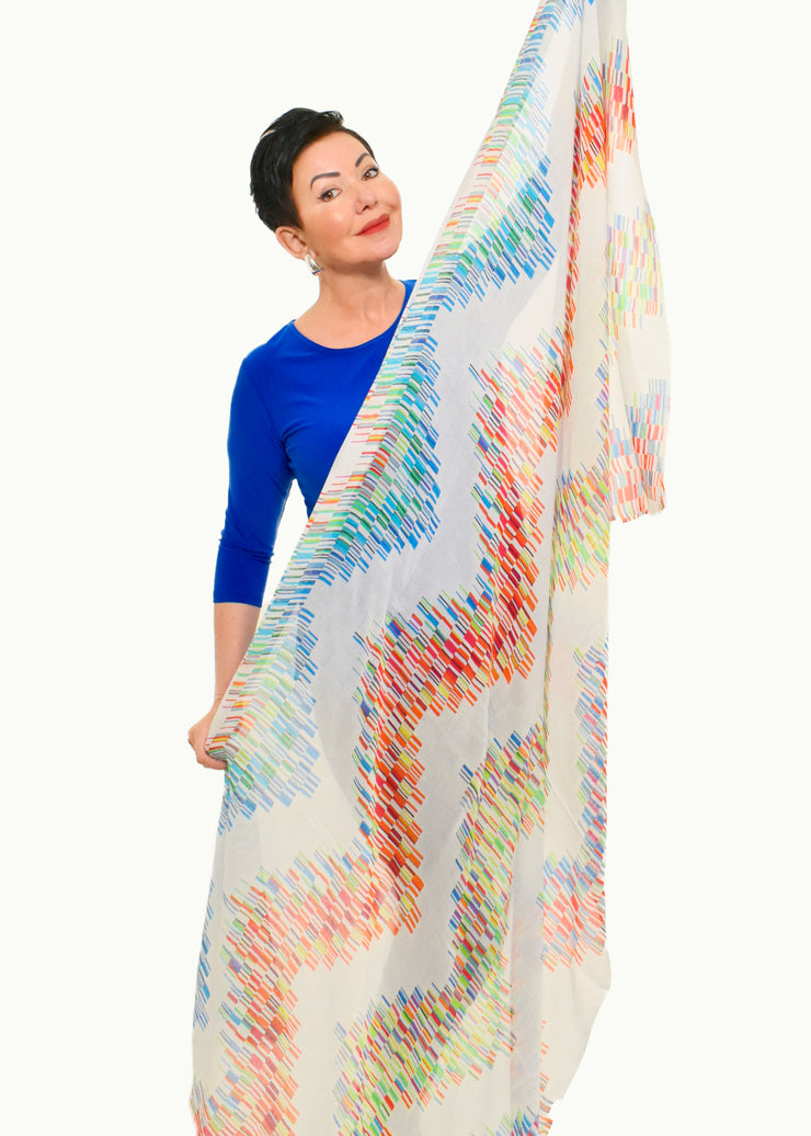 COWL NECK 3/4 SLEEVE TUNIC - MATCH POINT