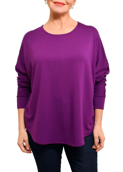BAMBOO FRENCH BOXY TOP - BOYSENBERRY