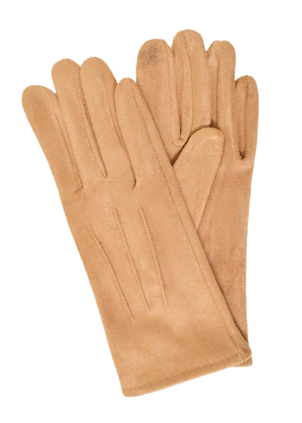 SUEDE SHORT GLOVES - TAUPE
