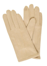 SUEDE SHORT GLOVES - IVORY