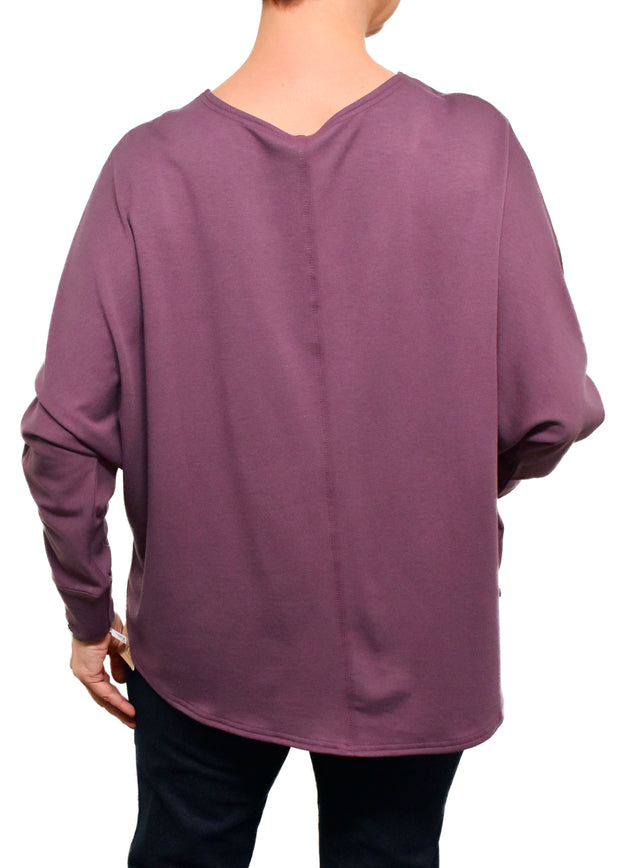BAMBOO FRENCH BOXY TOP - ORCHID
