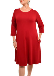 3/4 SLEEVE BAMBOO DRESS