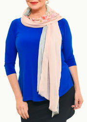 ROSE OF SHARON SILK SCARF - LOVES PURE LIGHT