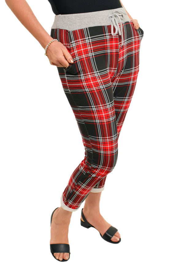 RED PLAID JOGGER