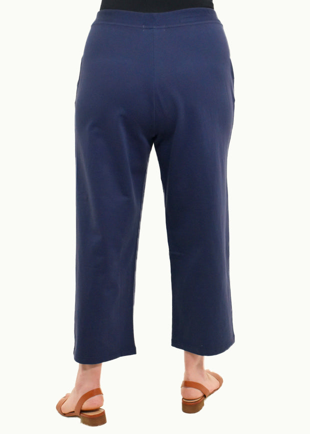 PANELED STRIPED TUNIC TOP - EVENING BLUE