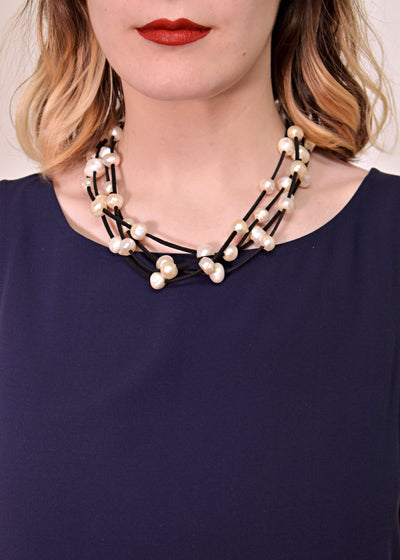 "WANTED - ULTRASUEDE 20"" PEARL NECKLACE - 1055433"