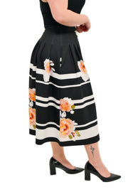 FLORAL STRIPE SKIRT - TIA