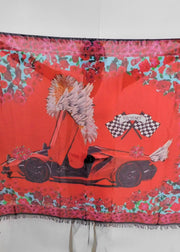 NEW RIDE: RED LAMBORGHINI SCARF