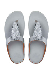 FITFLOP - FINO SEQUIN TOE THONGS - SILVER - 1055341- BC4-011