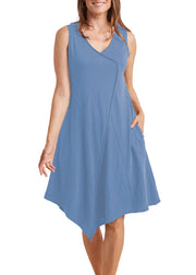 HABITAT - FAUX WRAP V HEM DRESS