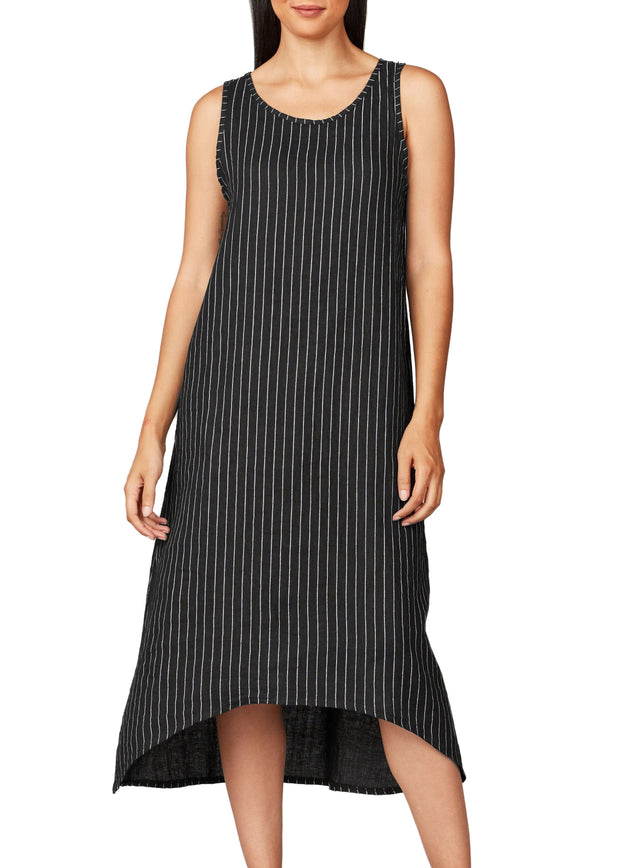 PISTACHE - MIDI PIN STRIPE TANK DRESS
