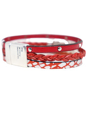 MY WRISTY BUSINESS - 3 STRAND RED BRACELET